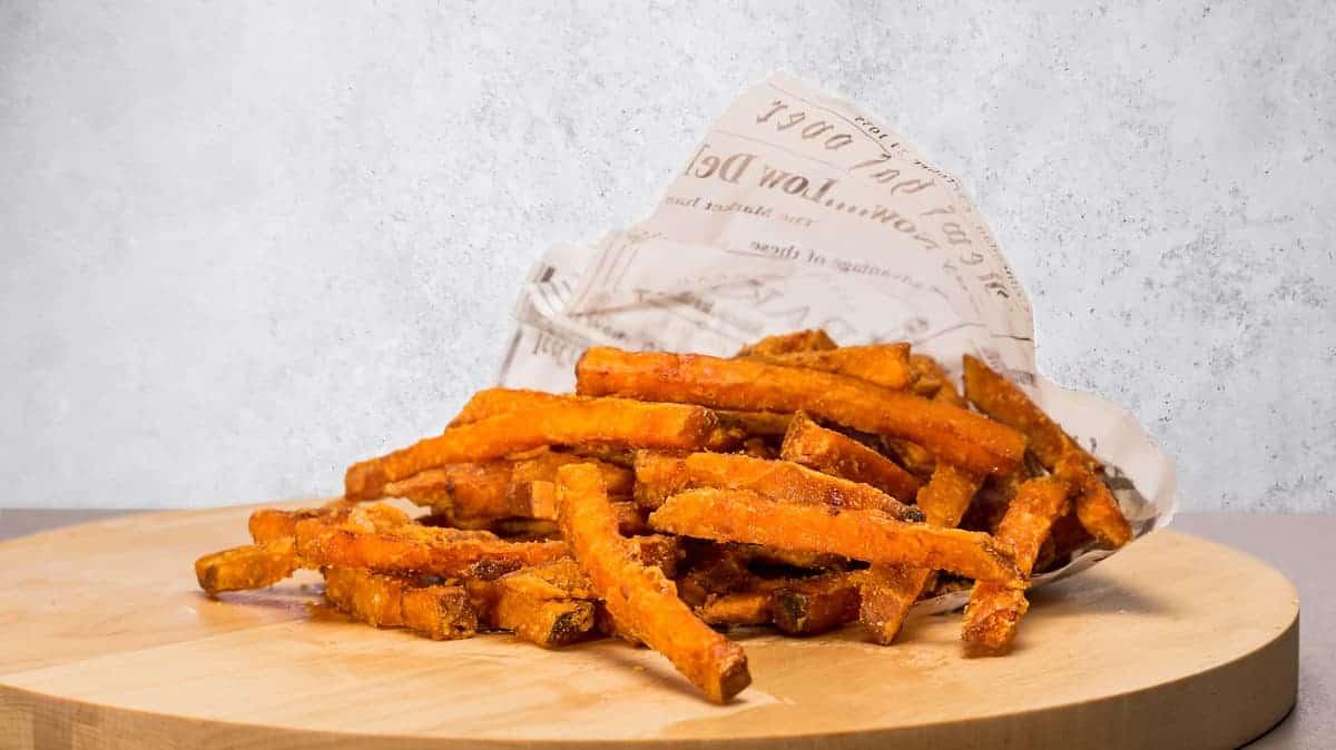Sweet potato fries with truffle mayo